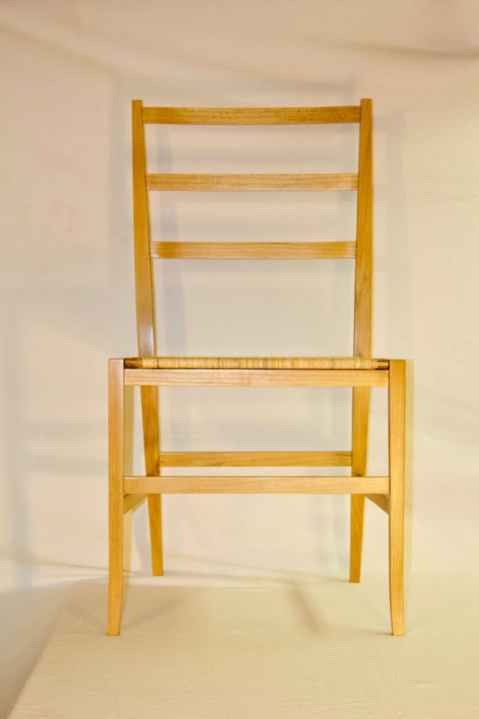 Front view of Black Locust Chair
