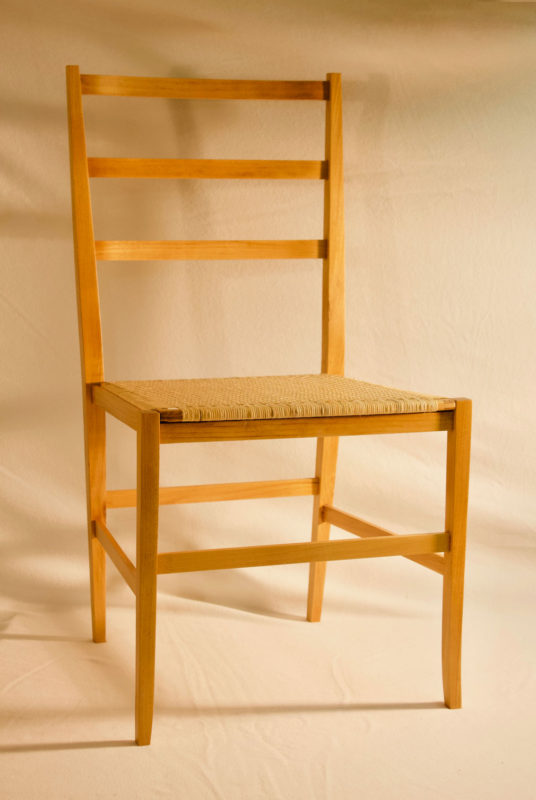 Front angle view of Black Locust Chair.