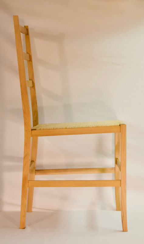 Side view of Black Locust Chair