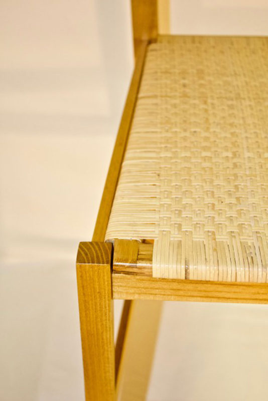Black Locust Chair 3mm woven cane seat