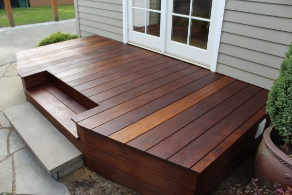 Rear entry ipe deck