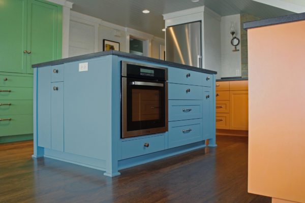 Kitchen Island Cabinet with Inset Oven