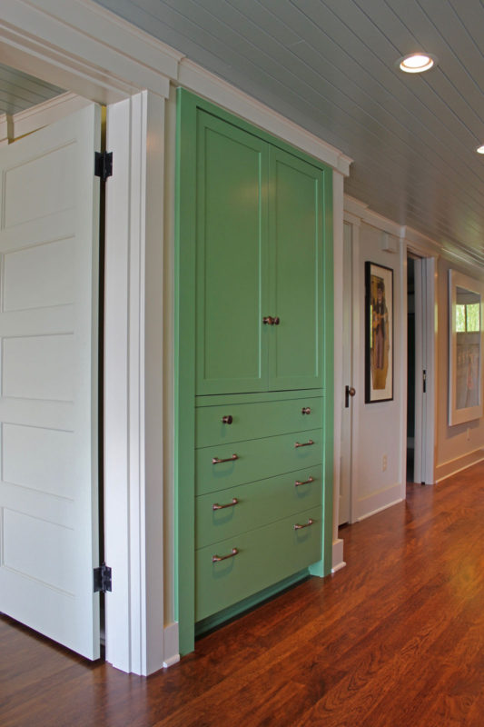 Tall Pantry Cabinet Painted Green