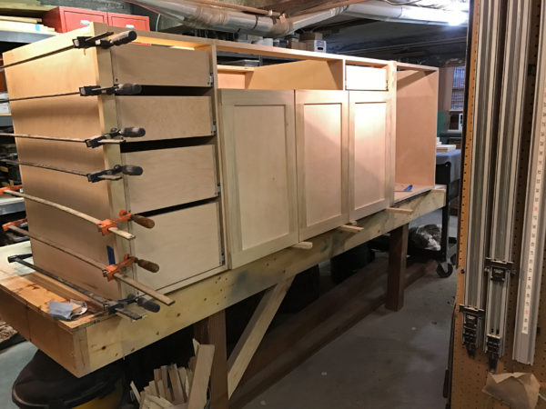 Kitchen Cabinets in Dane Jensen's Shop