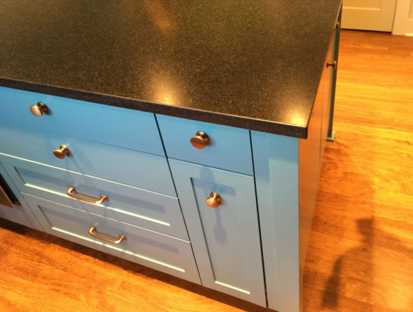 Kitchen Island Cabinet Corner View