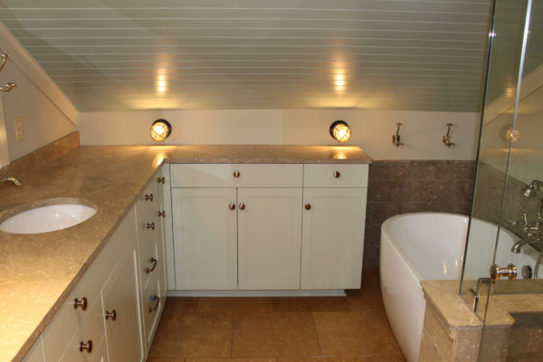 Bathroom Cabinets Painted & Installed
