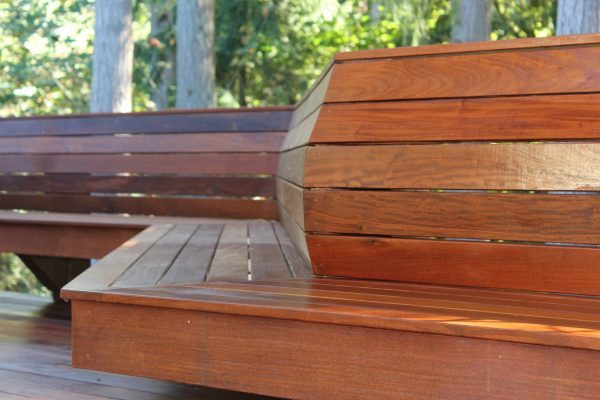ipe benches with rosewood oil