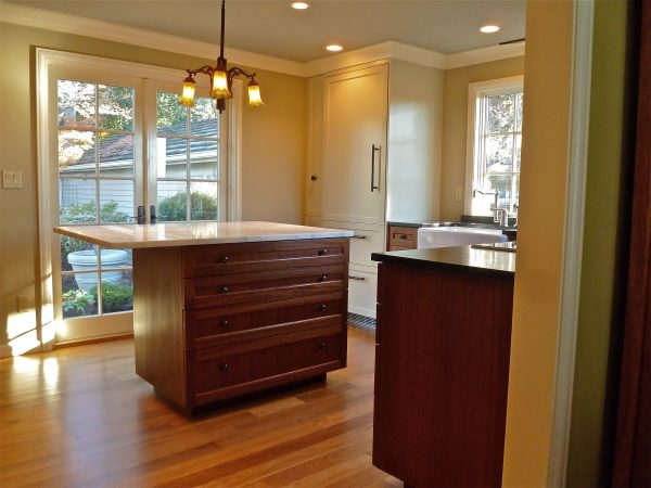 Laurelhurst Kitchen Island and New French Doors