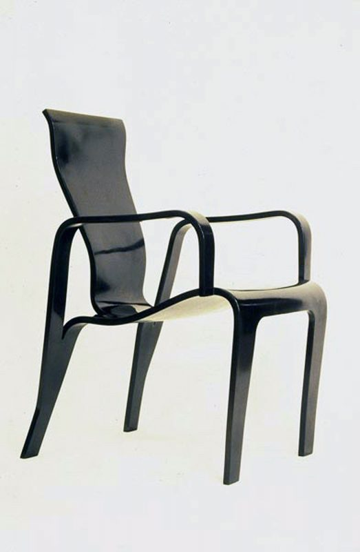 Black Laquered Veneer Chair